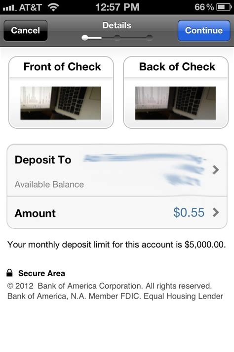 deposit checks by phone remote deposit bank of america iphone you can to