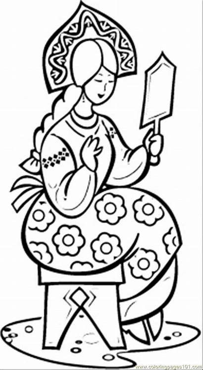 Beauty Coloring Making Pages Russian Russia Printable