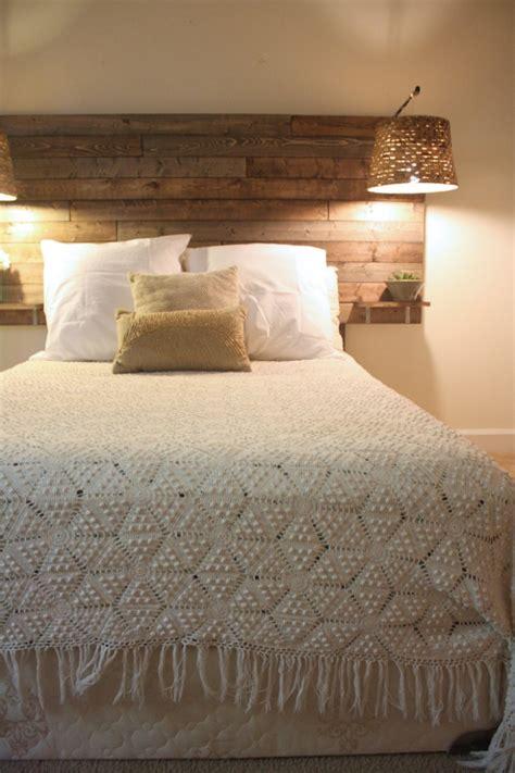modeles pour une tete de lit en palette de bois diy