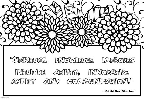 meditation quotes coloring pages  sri sri ravi shankar
