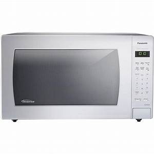Panasonic 2 2 Cu  Ft  Countertop Microwave In White  Built