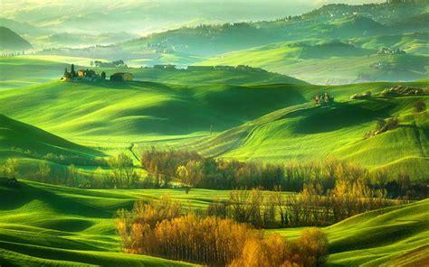 绿色山丘唯美风景壁纸_一望无际青青草原_风景壁纸_精品库