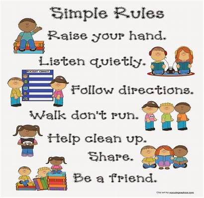 Classroom Posters Management Rules Poster Simple Dozen
