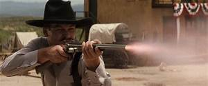 Doc with the shotgun during the gunfight at the O.K. Corral.
