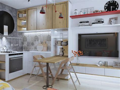 cuisine avec angle 4 idées pour aménager un petit appartement de 30m2