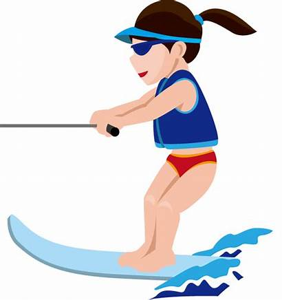 Water Ski Clipart Skiing Skis Clip Transparent