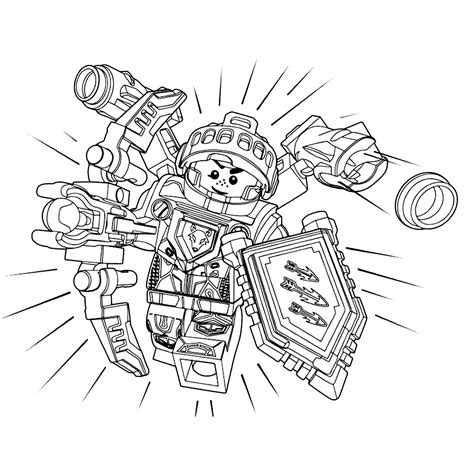 Kleurplaat Ridder Lego by Lego Nexo Knights Ridder Aaron Coloring Pages For