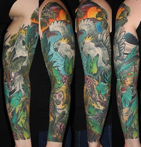 jungle sleeve tattoo designs ideas  meaning tattoos