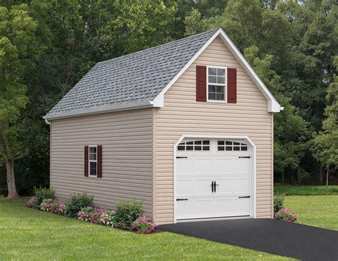 Two Story Amish Single Car Garages For Sale   Shop Garages ...