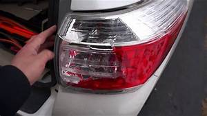 Toyota Highlander Tail Light Replacement  2011