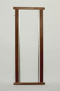 cadre bois porte lisses avec tringles et crochets With cadre de porte en bois