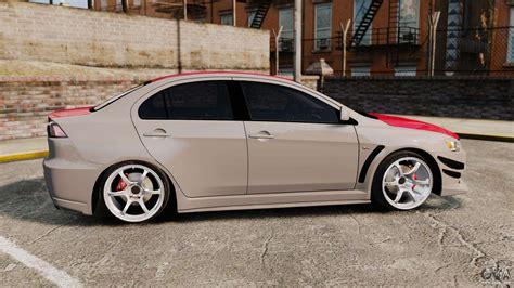 Mitsubishi Evolution 4 by Mitsubishi Lancer Evolution X Gsr 2008 For Gta 4