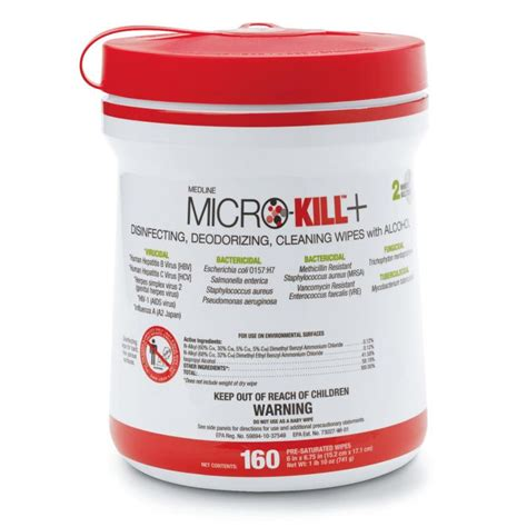 Micro-Kill+ Disinfectant Wipes | MEDLINE - MSC351200