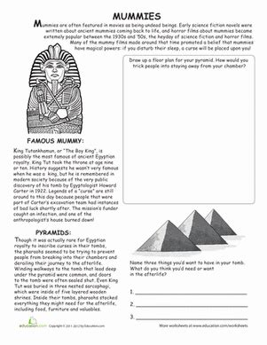 all about mummies worksheet education