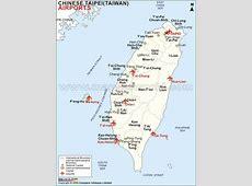 Airports in Taiwan, Taiwan Airports Map