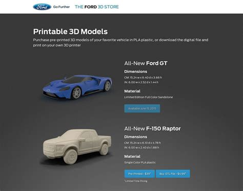 ford launches   printed model car shop print