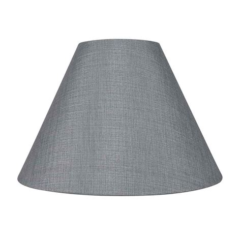 gray l shade essential home textured cone table shade grey free