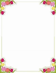 Printable tulip border. Free GIF, JPG, PDF, and PNG ...