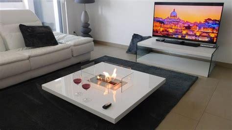 eco smart fireplace table cheminée ethanol design télécommandée lou afire