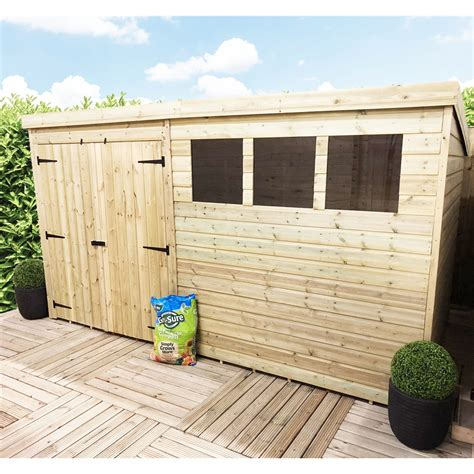 12x8 shed shedswarehouse aston 14ft x 8ft pressure treated