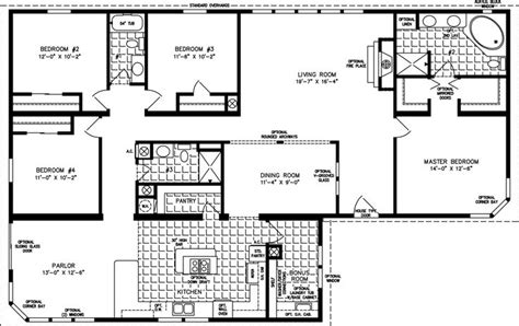 triple wide mobile home floor plans images