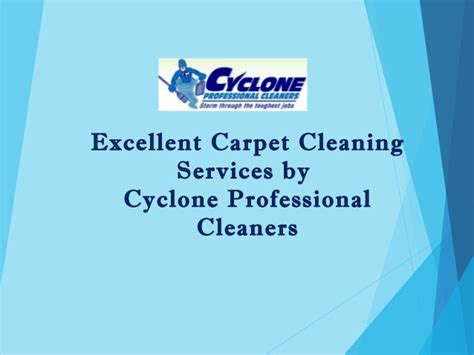 Excellent Carpet Cleaning Services By Cyclone Professional