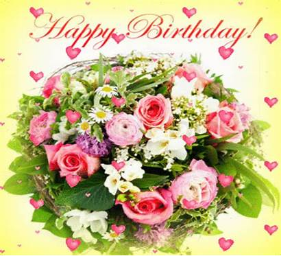 Birthday Happy Flowers Wishes Roses Animated Gifs