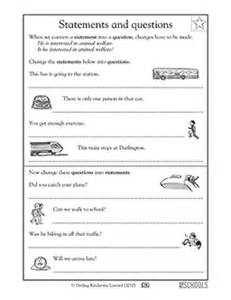 2nd Grade Ela Worksheets 3rd Grade Writing Worksheets Statements And Questions Greatschools