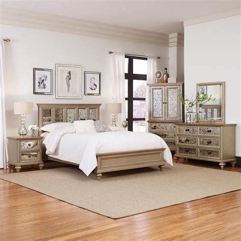 home styles visions  piece silver gold champagne finish