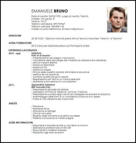 Esempio Curriculum Vitae Saldatore  Esempio  Livecareer. Cover Letter For Internship Teaching. Cover Letter With No Work Experience Samples. Infosys Application For Employment Form. Cover Letter For Quality Assurance Internship. Curriculum Vitae Formato Italiano Da Compilare. Curriculum Vitae Da Compilare Per Tablet. Resume Builder On Linkedin. Resume Layout Examples