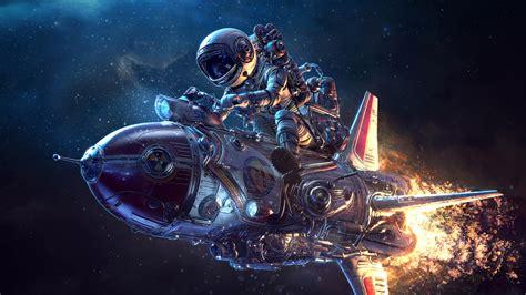 astronaut, Spaceship, Science Fiction, 3D, Retrofuturism ...