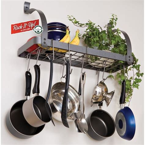 corner pot rack 33 best images about wall mounted pot racks on