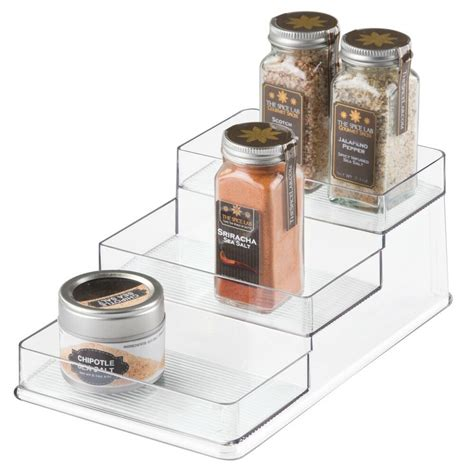 Spices And Spice Rack by Interdesign Linus Stadium Clear Spice Rack Organizer Ebay