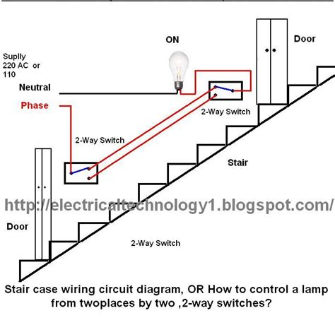 wiring up a light switch staircase wiring circuit diagram electrical technolgy
