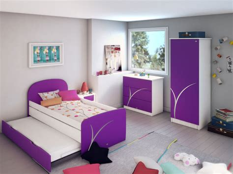 peinture chambre fille violet incroyable idees peinture chambre fille 4 d233coration