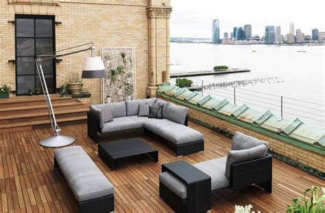 rooftop patio ideas rooftop patio design ideas with wood flooring by dedon captivatist