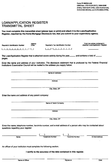 Hmda Data Collection Form by Fdic Law Regulations Related Acts Consumer Financial