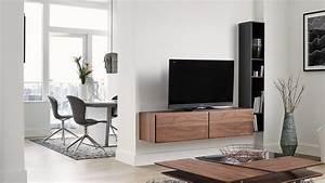 Meuble Tv Accroché Au Mur : meuble tv accroche au mur maison design ~ Preciouscoupons.com Idées de Décoration