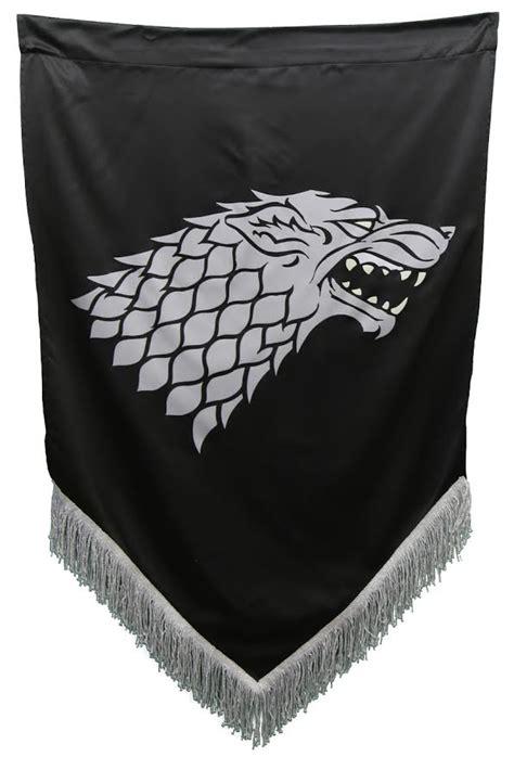 fringed stark war banner game  thrones collectibles