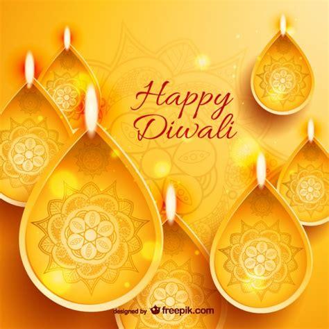 golden happy diwali card vector
