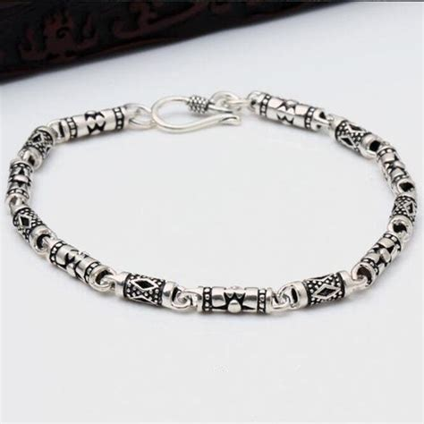 solid  sterling silver bracelet men women vintage