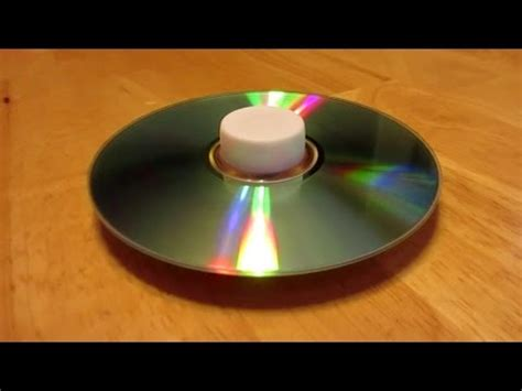 How To Make Cd Spinning Tops  Simple And Easy Youtube