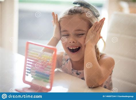 Children`s Brain Develops With Mathematics Stock Photo ...