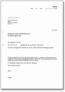Ordentliche Rechnung : widerspruch rechnung de musterbrief download ~ Themetempest.com Abrechnung