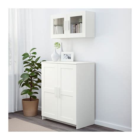 Ikea Kitchen Cabinet Doors White by Brimnes Cabinet With Doors White 78x95 Cm Ikea