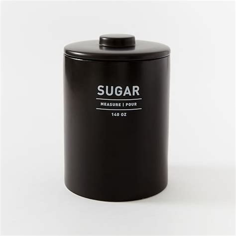 Canisters Black by Utility Kitchen Canisters Black West Elm