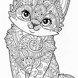 Coloring Pages Adults Printable Animal Mandala Cat Cats Owl Sheets Freecoloring Whitesbelfast Easy Save Credit Getdrawings Getcolorings sketch template