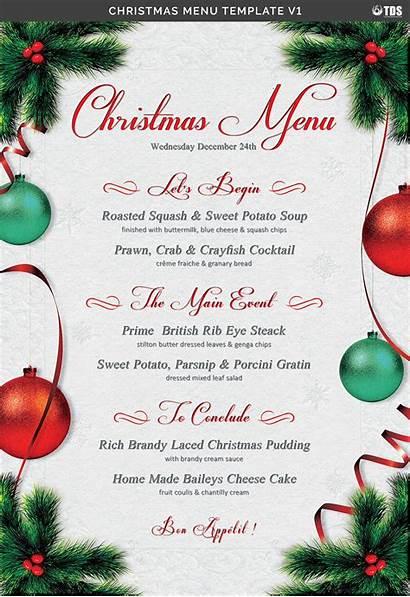 Menu Template Christmas V1 Dinner Templates Word