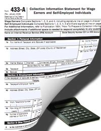 Irs Form 443a by Irs Form 433 A Instructions Purpose Of This Information