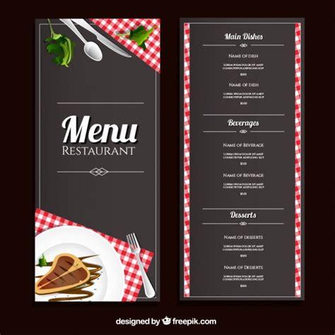 plantilla de menu de restaurante vector premium